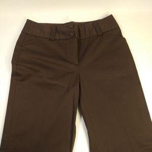 Talbots Size 6 Brown Stretch Chino Pants